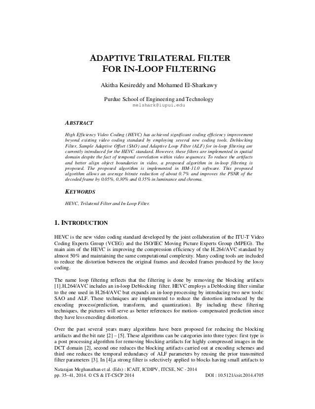 Natarajan Meghanathan et al. (Eds) : ICAIT, ICDIPV, ITCSE, NC - 2014 pp. 35–41, 2014. © CS & IT-CSCP 2014 DOI : 10.5121/cs...