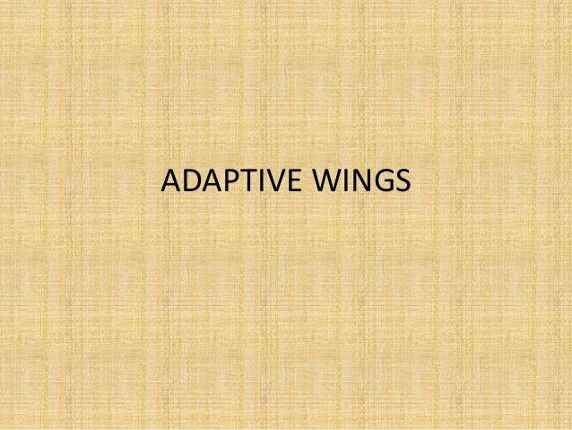 ADAPTIVE WINGS