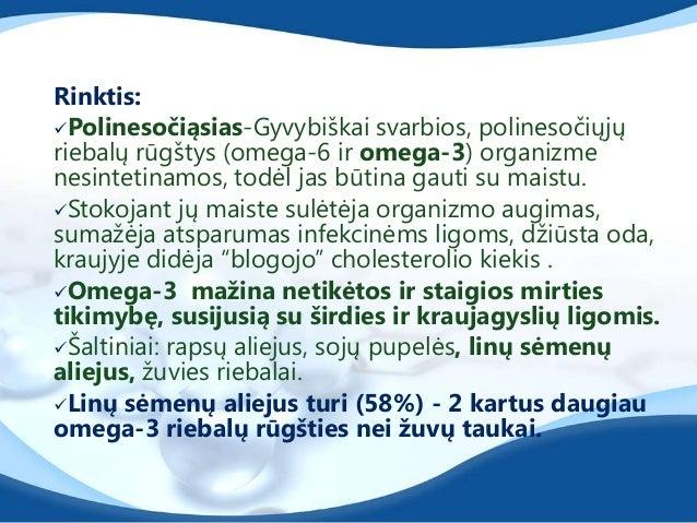 mono nesočiąsias (alyvuogių aliejus, avokadai,migdolai.Jos pagal savo struktūrą priklauso omega-9 mononesočiųjų riebalų ...