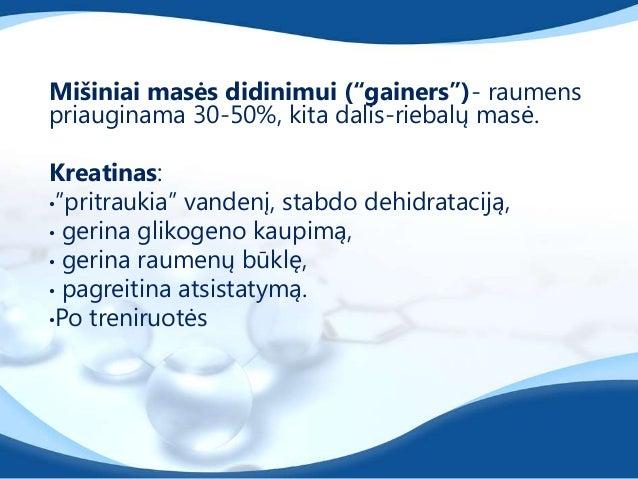 Amino rūgštys•Šakotosios amino rūgštys (BCAA)•Maţina nuovargio pojūtį treniruotės metu, didinadarbingumą.•Esminės amino rū...