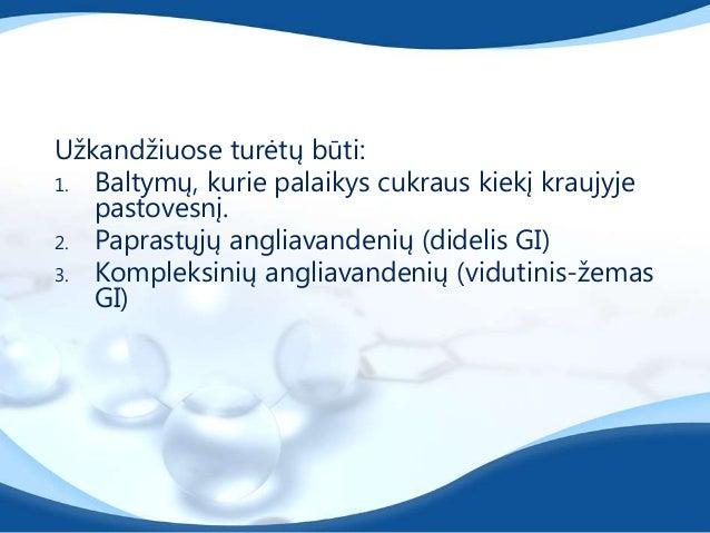 Tik aukšto GI produktai prieš pat treniruotęnėra gerai, kadangi:• Gliukozė į kraują vis vien pateks tik popusvalandţio,•Di...