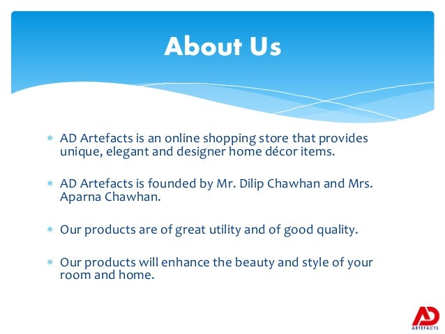 Unique Interior Designing Products From AD Artefacts