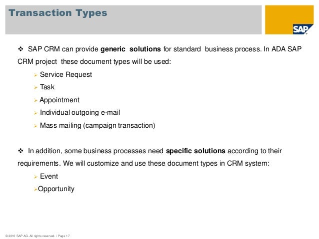 Ada sap crm business blueprint presentation pm notification or order 17 transaction types sap crm malvernweather Images