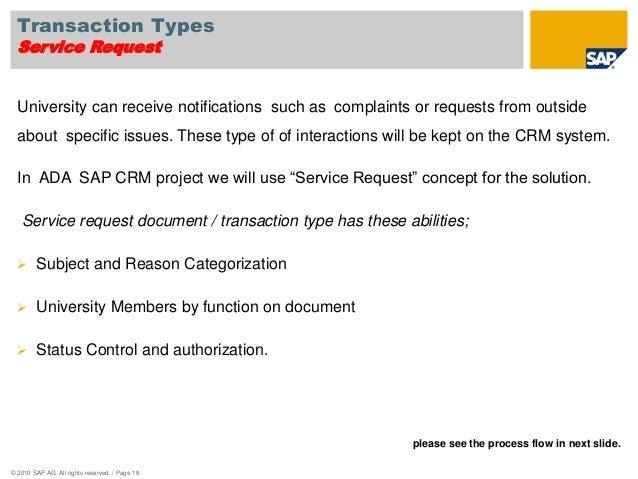 Ada sap crm business blueprint presentation transaction malvernweather Choice Image