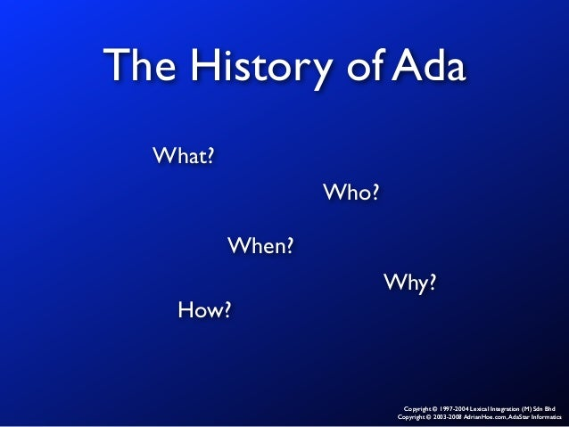 an introduction to the history of ada Introduction the us commission the ada was being heavily litigated in the chapter that follows is a summary of the history of disability policy and the.