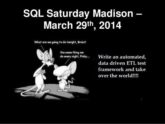 SQL Saturday Madison – March 29th, 2014