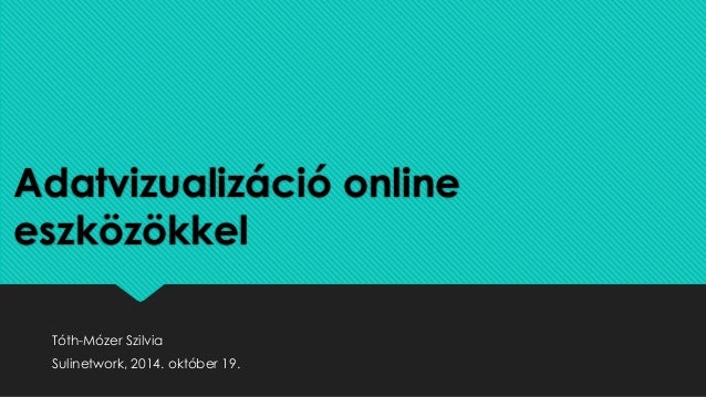 Adatvizualizáció online  eszközökkel  Tóth-Mózer Szilvia  Sulinetwork, 2014. október 19.