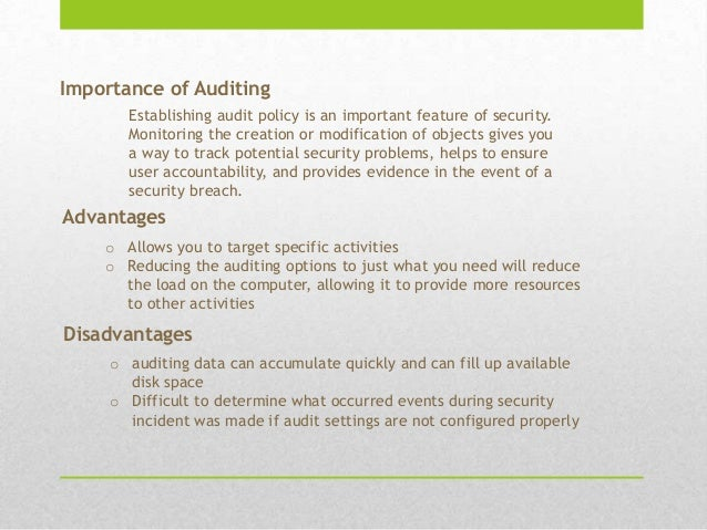 importance of auditing Not only is regular auditing important to a business, but ethical and transparent  auditing is the foundation upon which a business builds trust on.