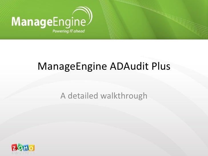 ManageEngine ADAudit Plus - Active Directory audit software