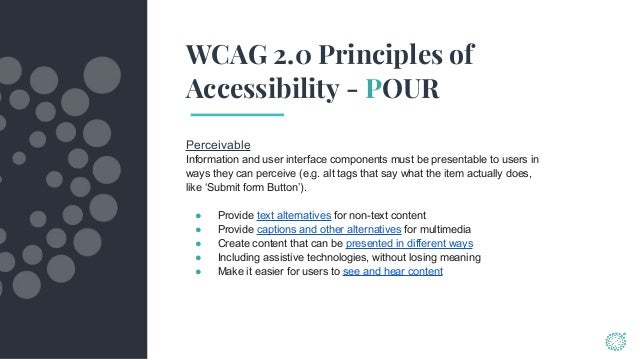 w3c web standards accessibility guidelines
