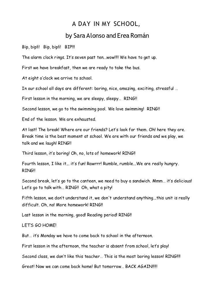 My school days essay