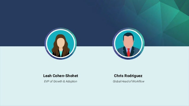Leah Cohen-Shohet EVP of Growth & Adoption Chris Rodriguez Global Head of Workflow