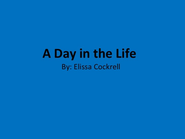 A Day in the Life  By: Elissa Cockrell