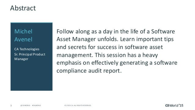 Pre-con Education: A Day In The Life Of A Software Asset Manager