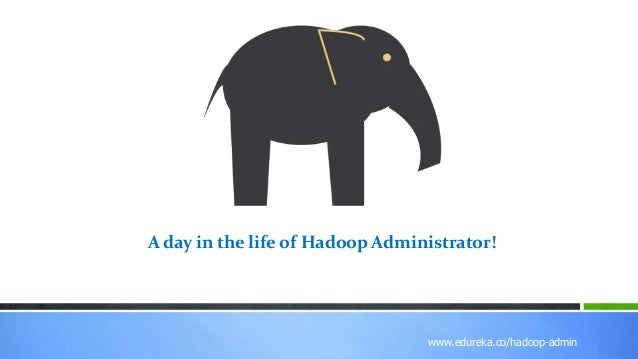 www.edureka.co/r-for-analytics www.edureka.co/hadoop-admin A day in the life of Hadoop Administrator!