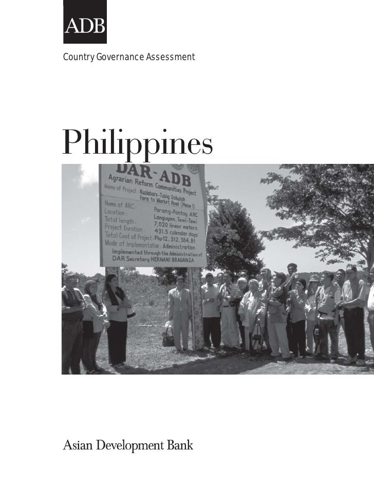 Country Governance AssessmentPhilippines