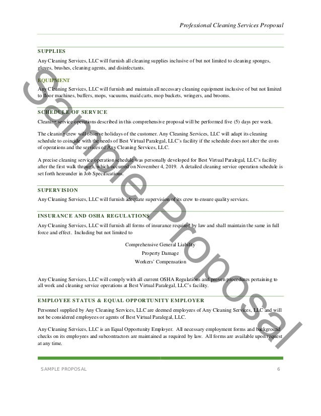 Writing a business plan for cleaning service