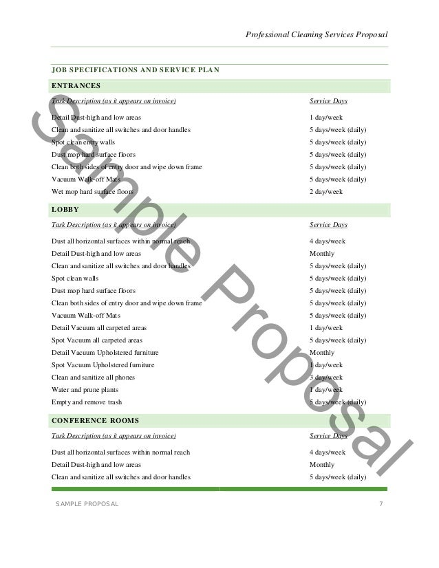 Cleaning Proposal Letter. Free Lawn Care Contract Forms - Lawn