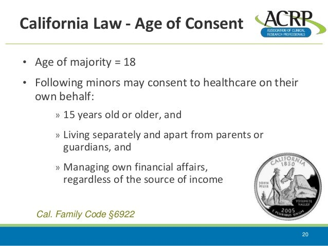 State laws and informed consent 2015 Age Of Minority