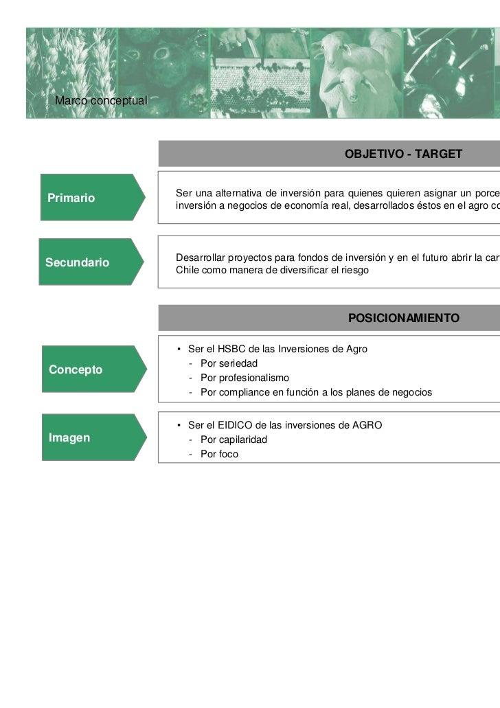 Marco conceptual  ADBlick Agro desarrolla negocios de agro, los cuales en la argentina de hoy representan una  alternativa...
