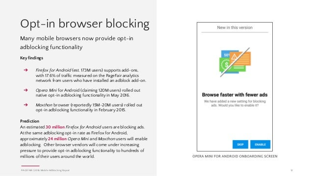 Adblocking Goes Mobile - 2016 PageFair Mobile Report