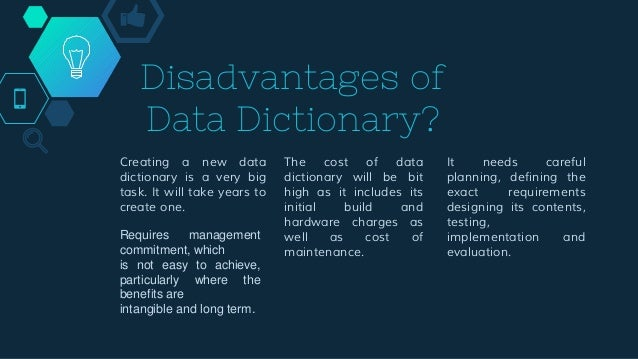 Viewing Information in the Data Dictionary ◇ Although you are not allowed to modify the dictionary yourself, you can DESCR...