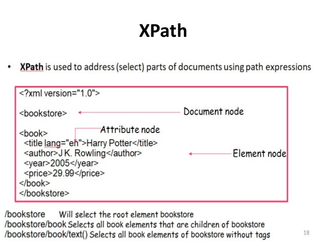 XQuery • XQuery is a general purpose query language for XML data • XQuery is built on XPath expressions • XQuery is derive...