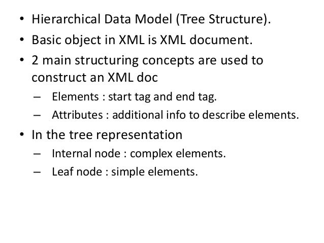 Types of XML documents • Data-centric XML doc – Many small data items that follow a specific structure and hence may be ex...