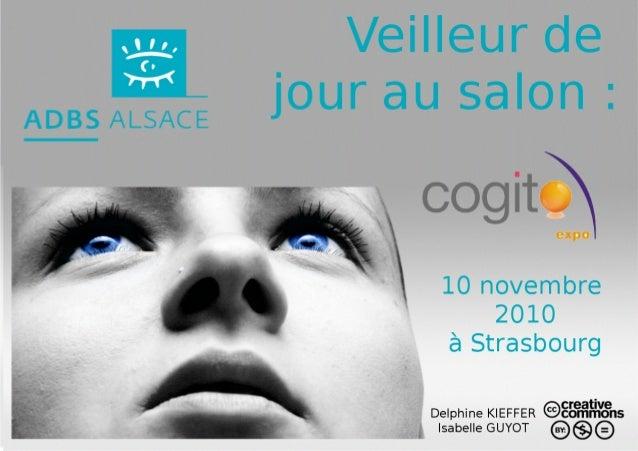 ADBS Alsace - Diaporama du salon Cogito expo le 10 novembre 2010 à Strasbourg