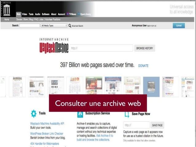 Consulter une archive web