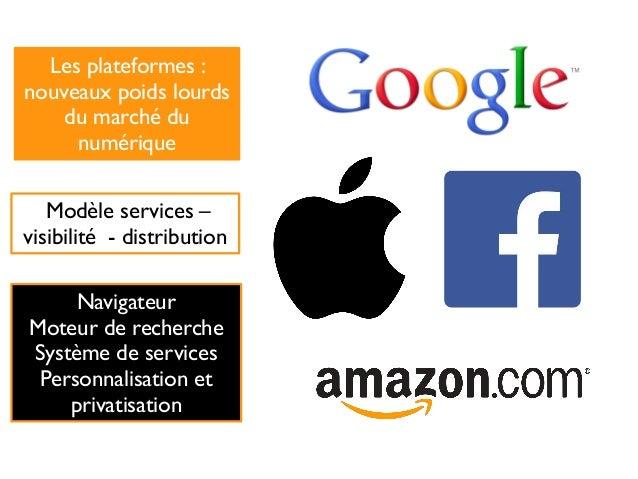 Modèle services – visibilité - distribution Les plateformes : nouveaux poids lourds du marché du numérique Navigateur Mote...