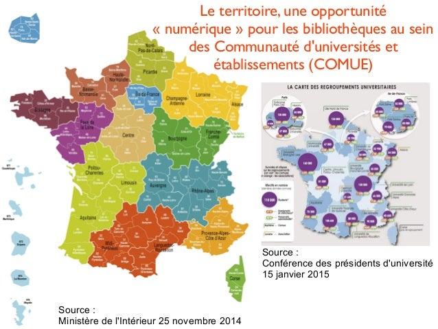 Le territoire, une opportunité «numérique» pour les bibliothèques au sein des Communauté d'universités et établissements...