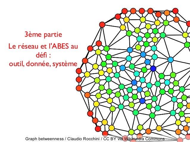 Graph betweenness / Claudio Rocchini / CC BY via Wikimedia Commons 3ème partie Le réseau et l'ABES au déf : outil, donnée,...