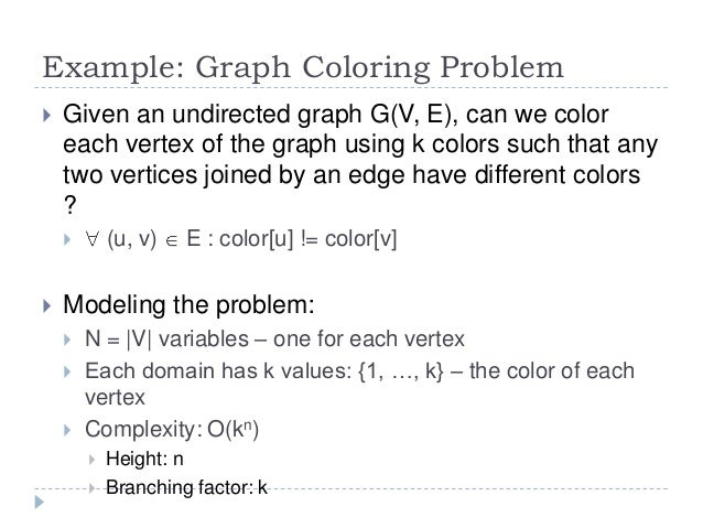 algorithm design and complexity course 6 graph coloring using backtracking example ppt graph coloring problem using backtracking example
