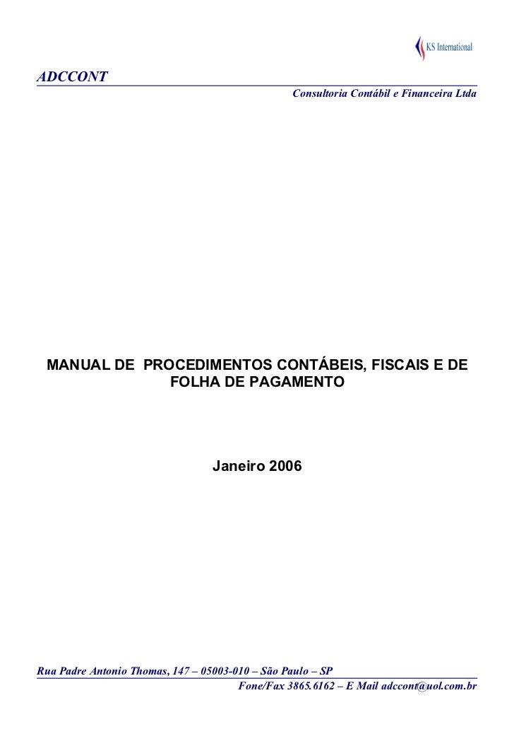 Adccont manual de procedimentos contabeis e fiscais be31d2fd85