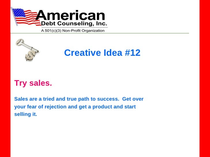 creative idea 12 try sales