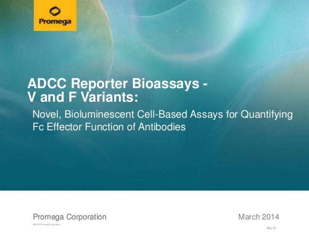 Promega CorporationPromega Corporation ©2013 Promega Corporation. March 2014 ADCC Reporter Bioassays - V and F Variants: N...