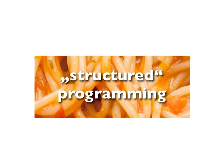 """""""structured""""programming"""