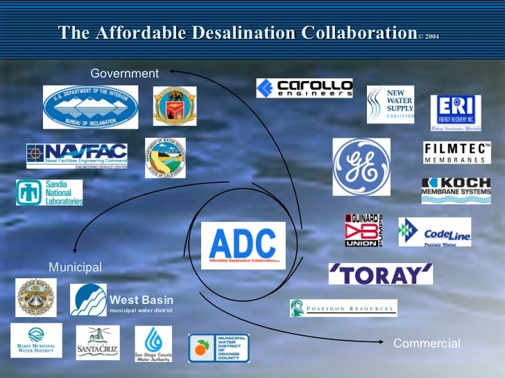 The Affordable Desalination Collaboration © 2004 Government Municipal Commercial West Basin   municipal water district
