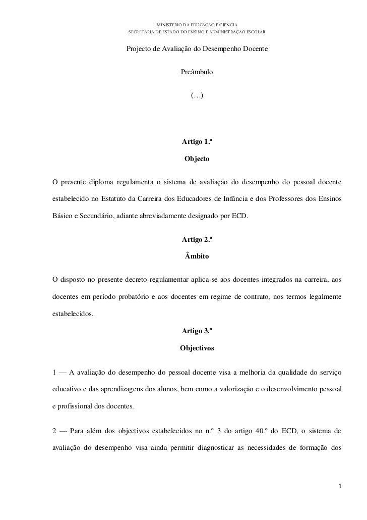 MINISTÉRIO DA EDUCAÇÃO E CIÊNCIA                          SECRETARIA DE ESTADO DO ENSINO E ADMINISTRAÇÃO ESCOLAR          ...