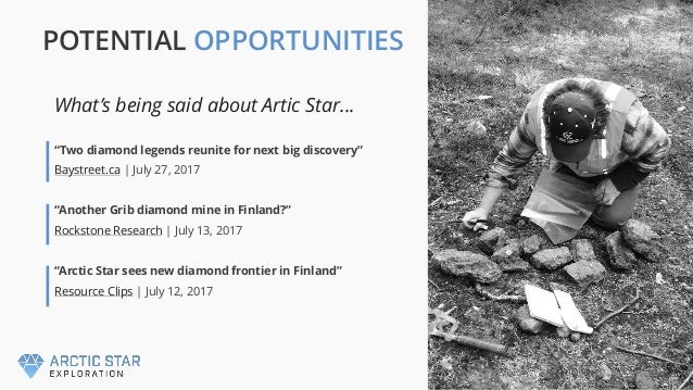 """""""Two diamond legends reunite for next big discovery"""" Baystreet.ca   July 27, 2017 """"Another Grib diamond mine in Finland?"""" ..."""