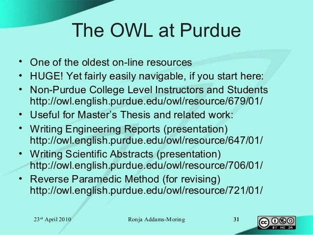Welcome to the Purdue OWL