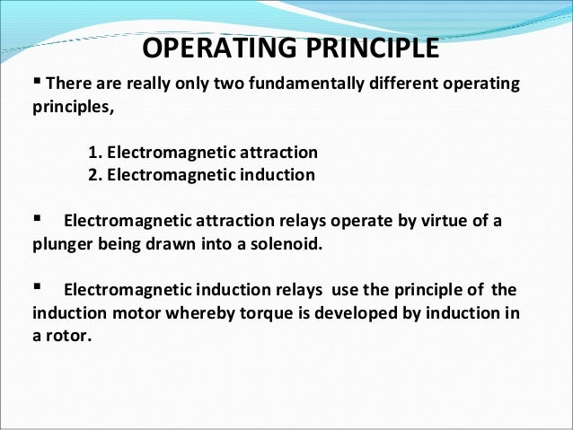 Electric Relay - Basic Principle Of Relay