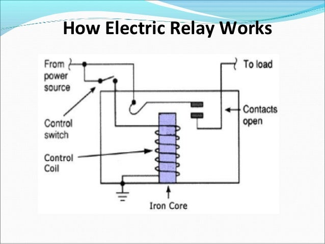 electric relay rh slideshare net electromagnetic relay circuit diagram electromagnetic relay circuit diagram