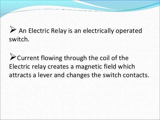 Electric Relay - Electromagnetic relay switch