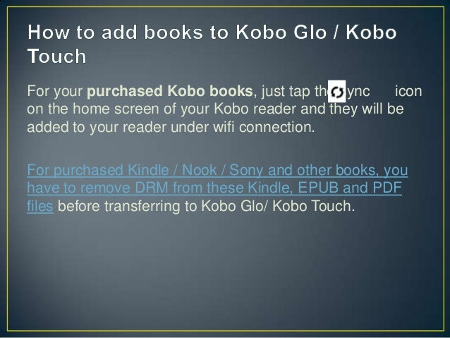 Kobo Books As Pdf