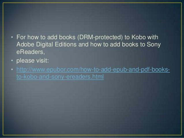 how to put pdf on kobo