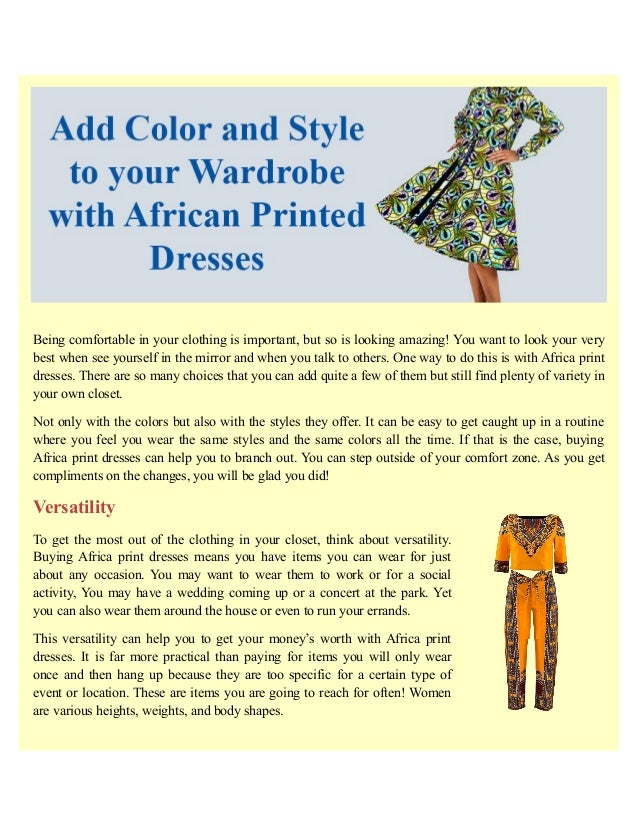 307efa02f6 Add color and style to your wardrobe with african printed dresses