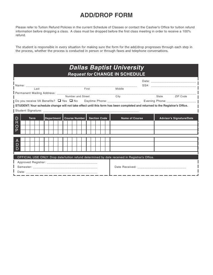 Add drop form w info 2 04