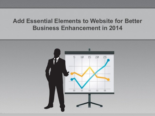 Add Essential Elements to Website for Better Business Enhancement in 2014